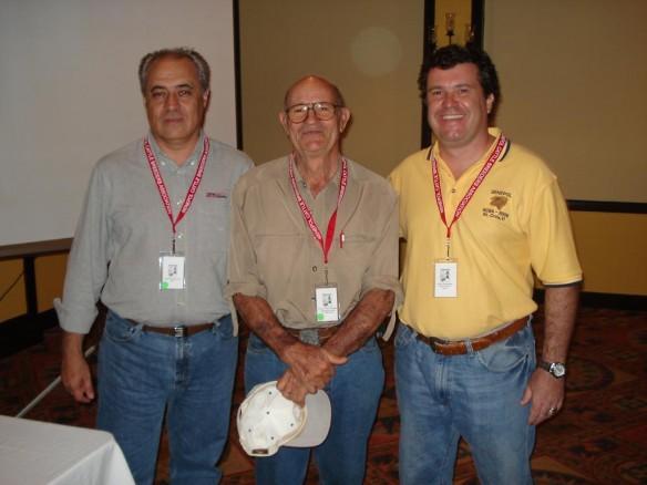 da esquerda para direita Jairo Ferreira Lima - Mário Gasperi - Junior Fernandes em Saint Croix