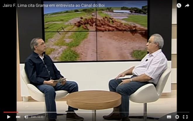 Jairo Ferreira da Genetropic Senepol durante entrevista no Canal do Boi