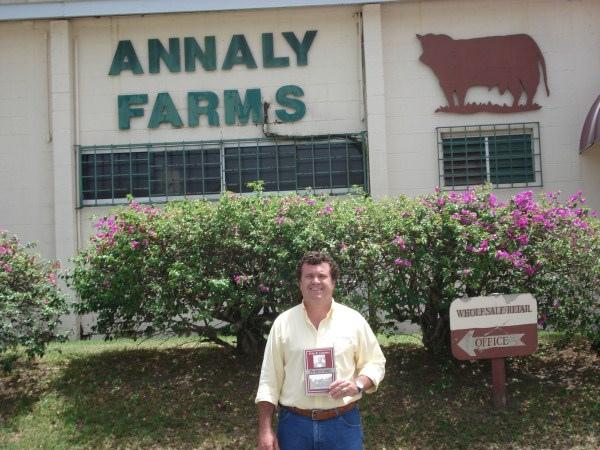 Junior Fernandes em Saint Croix - Ilhas Virgens - Caribe - Berço da raça senepol, visitando animais da linhagem WC.
